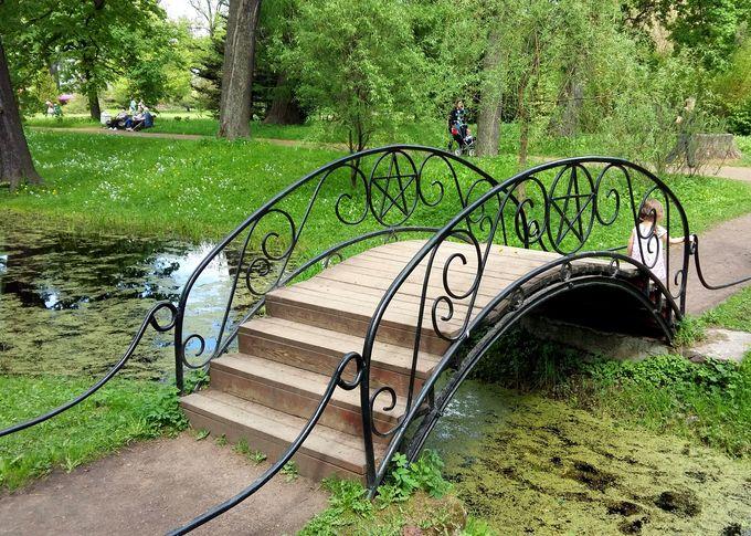 Благоустройство в саду:  как построить мостик из железобетона на пруду